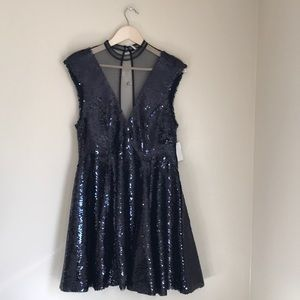 NWOT Free People Small Black Sequin Party Dress